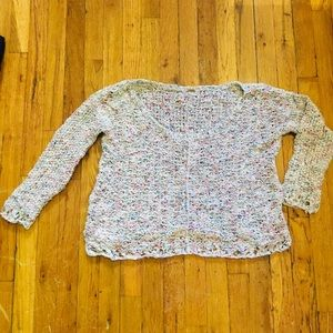 Free People off the shoulder knit sweater small